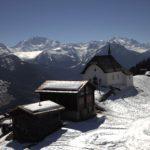 Bettmeralp (Svizzera) – Vista sul paese e sulla cappella