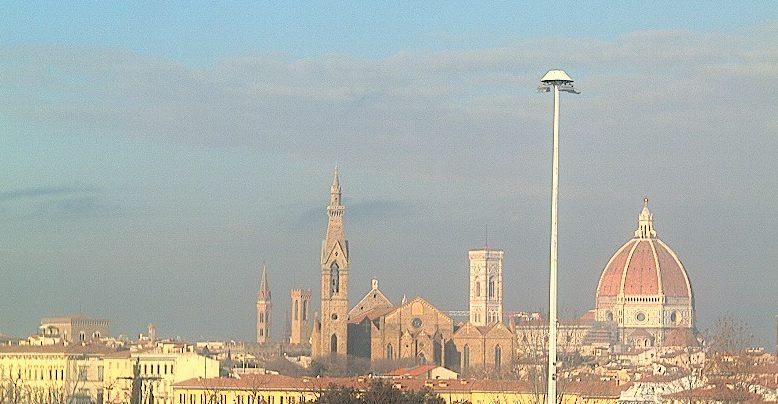Firenze - Vista panoramica su Santa Croce e sul Duomo
