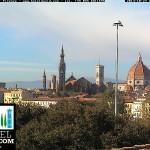 Firenze – Vista panoramica su Santa Croce e sul Duomo