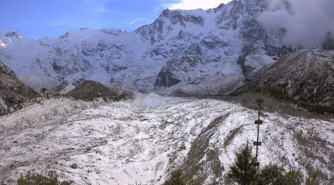 Macugnaga  – Vista sul Ghiacciaio Belvedere sul Monte Rosa
