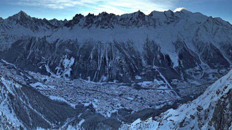 Chamonix e Monte Bianco - Vista da Le Brévent