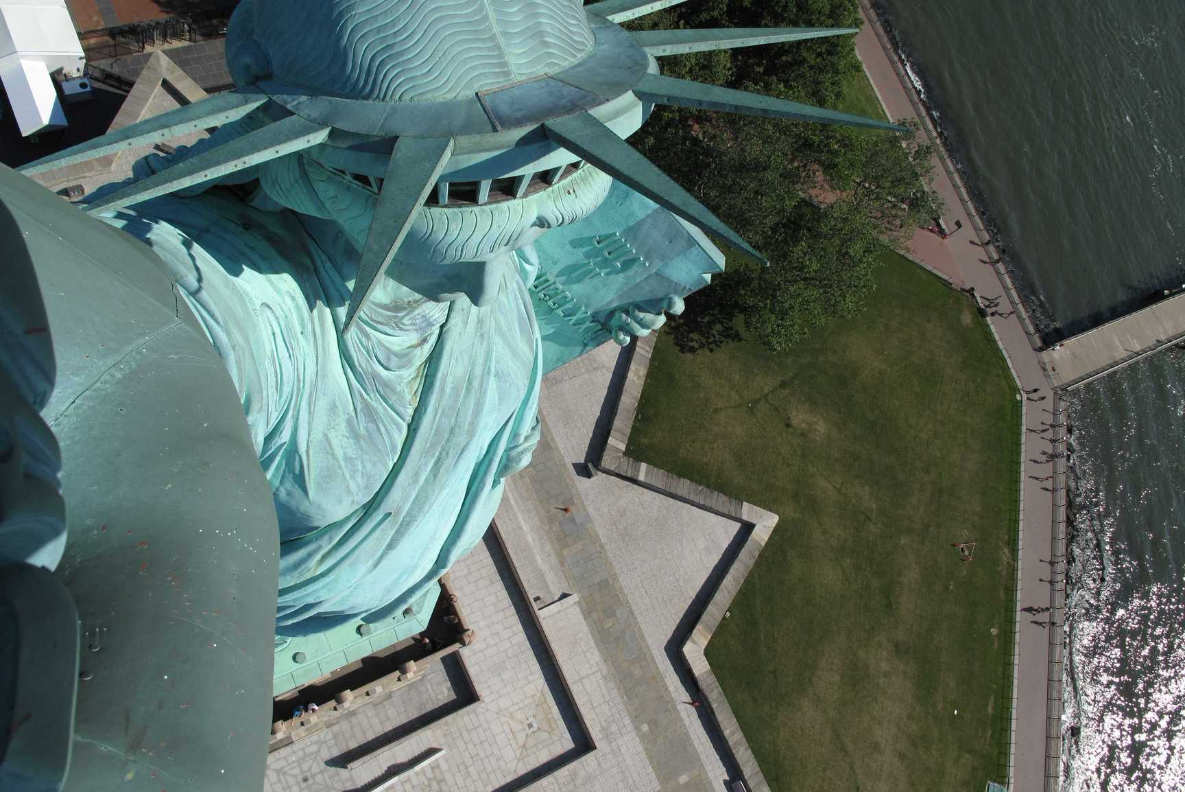 New York - Vista dalla Torcia della Statua della Libertà
