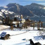 Spiez - Vista sul Castello e sul Lago di Thun